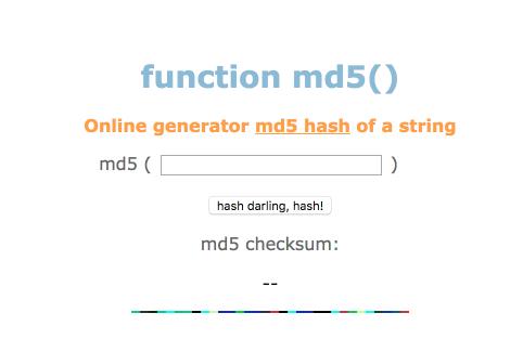 [工具] - 線上 md5 產生器