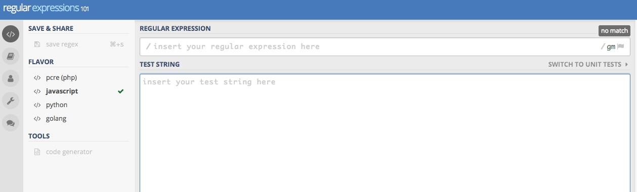 線上測試正則表達式網站