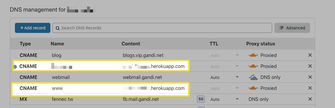 Cloudflare + Heroku 部署流程